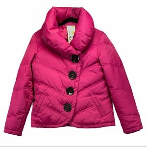 Soia & Kyo Hot Pink Down Puffer Jacket